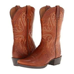 Ariat Girls Heritage Western X Toe New West 5.5 M